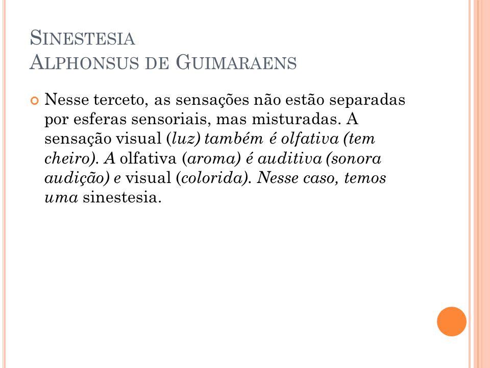 Sinestesia Alphonsus de Guimaraens