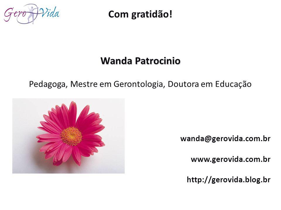 Pedagoga, Mestre em Gerontologia, Doutora em Educação