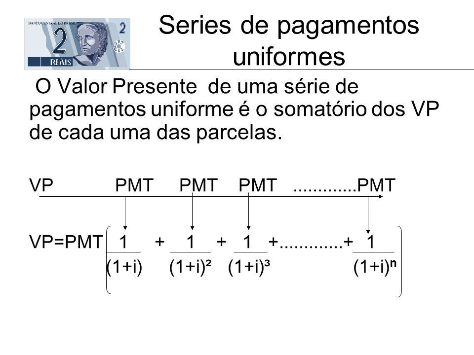 Series de pagamentos uniformes