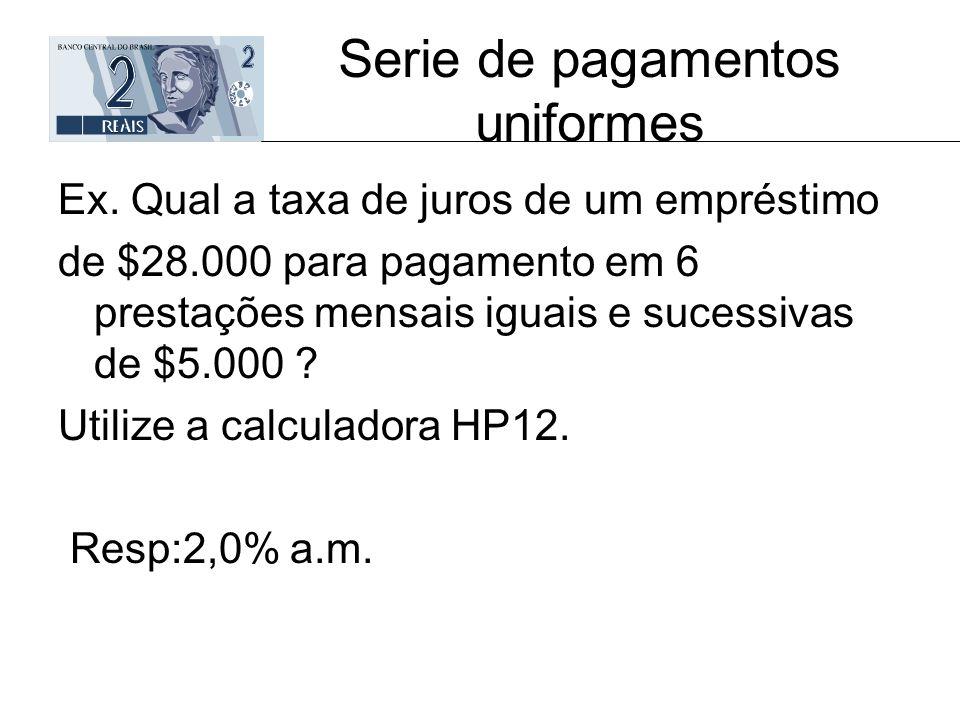 Serie de pagamentos uniformes