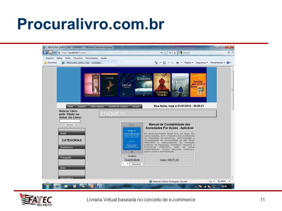 Livraria Virtual baseada no conceito de e-commerce