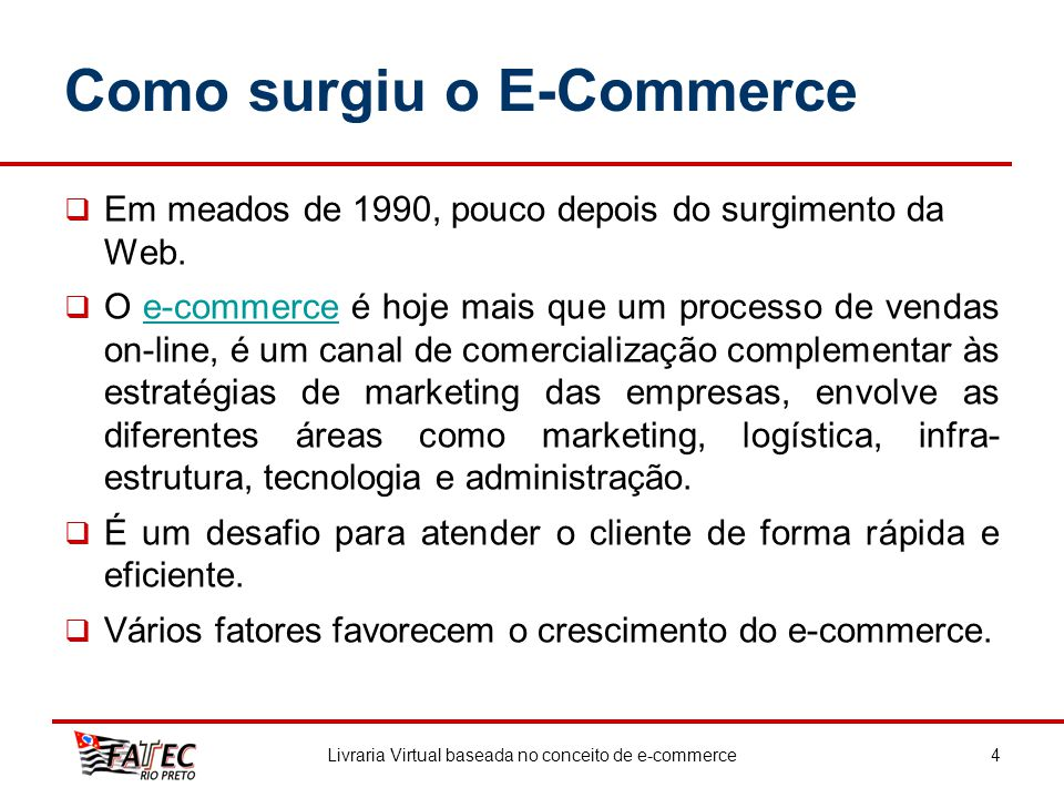 Como surgiu o E-Commerce