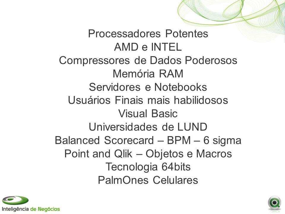 Processadores Potentes AMD e INTEL Compressores de Dados Poderosos