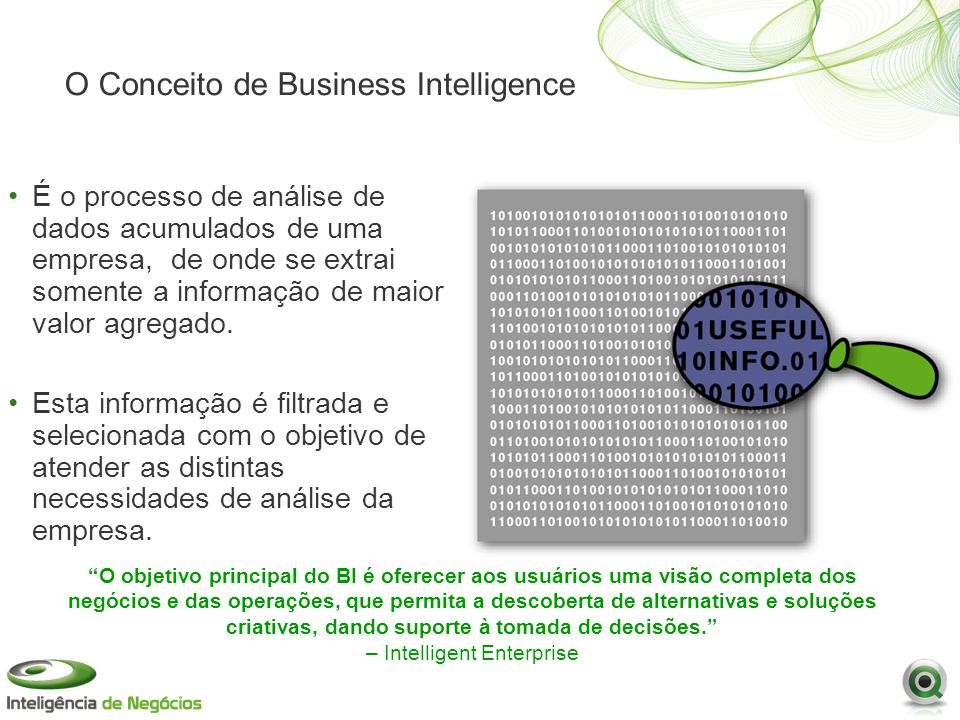 O Conceito de Business Intelligence
