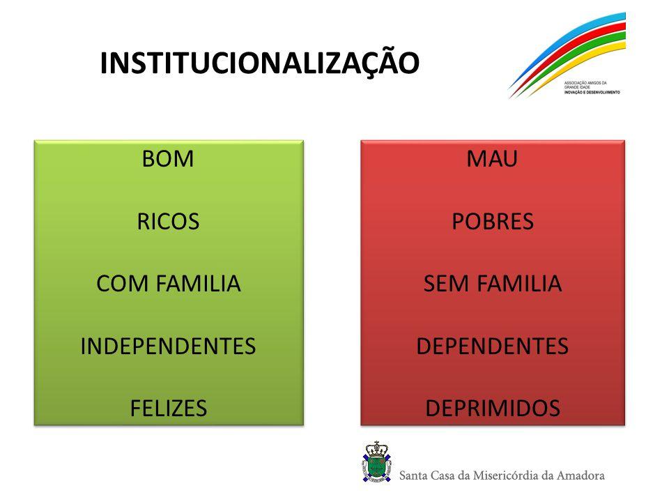 INSTITUCIONALIZAÇÃO BOM RICOS COM FAMILIA INDEPENDENTES FELIZES MAU