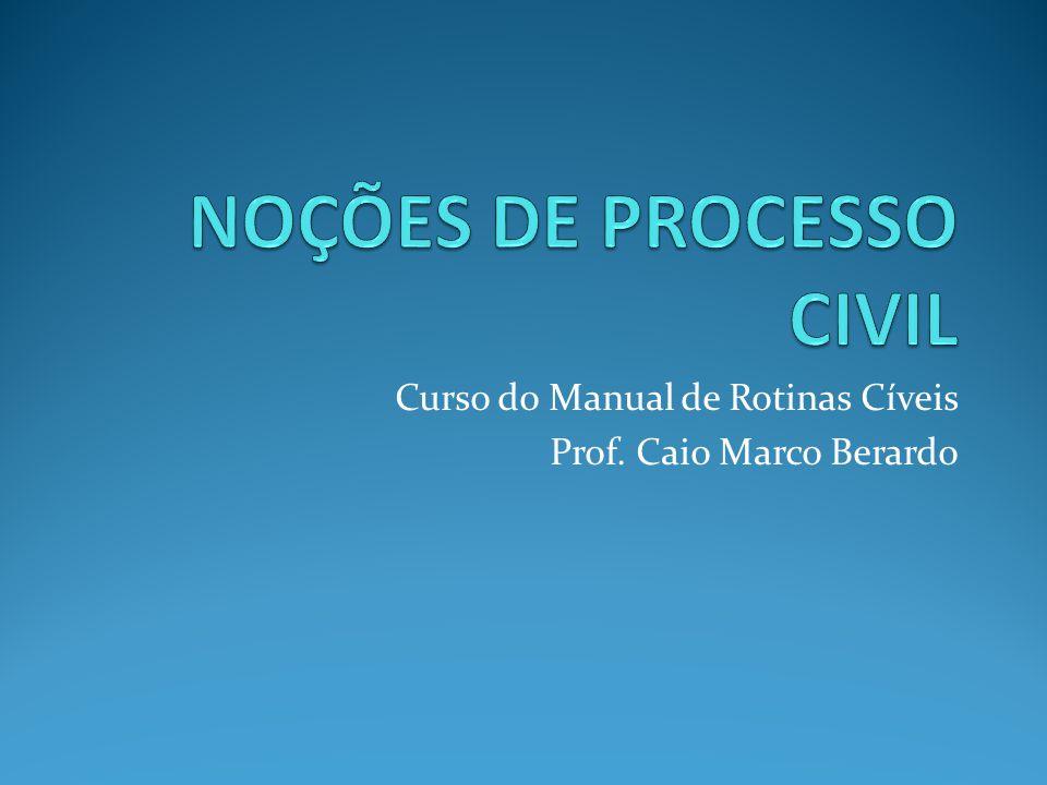 NOÇÕES DE PROCESSO CIVIL