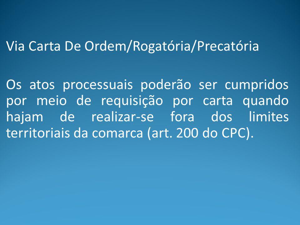 Via Carta De Ordem/Rogatória/Precatória