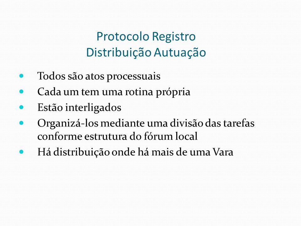Protocolo Registro Distribuição Autuação