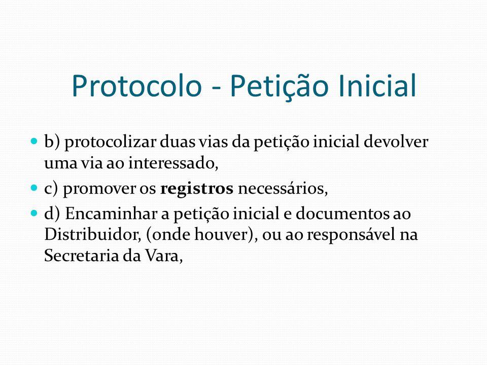 Protocolo - Petição Inicial