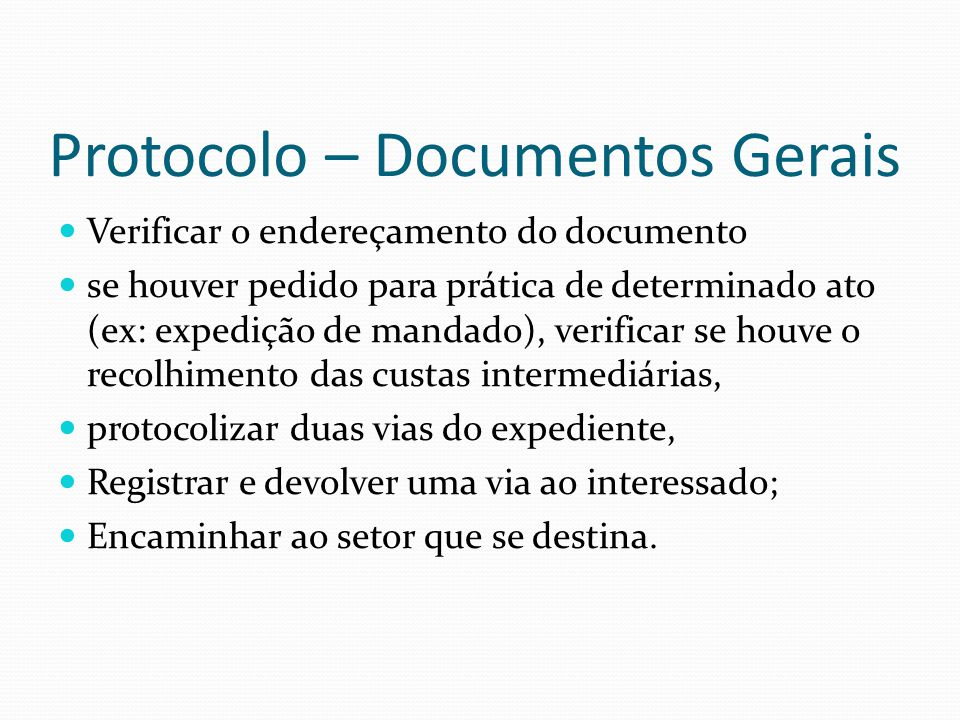 Protocolo – Documentos Gerais