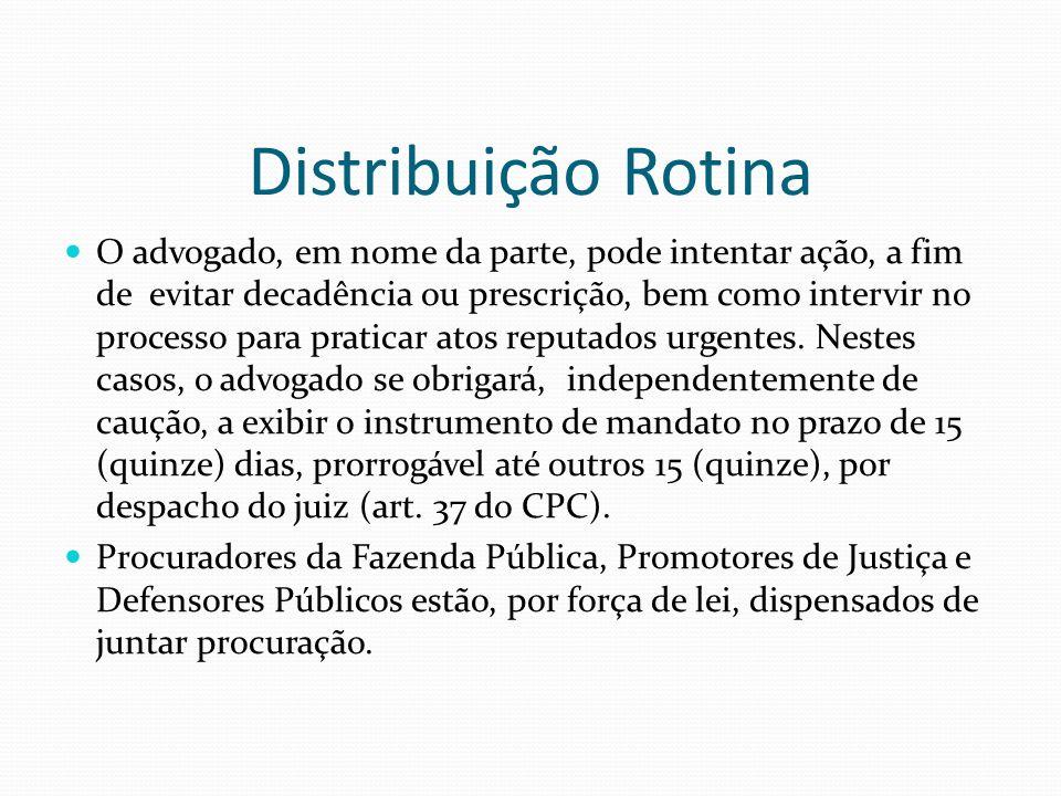 Distribuição Rotina