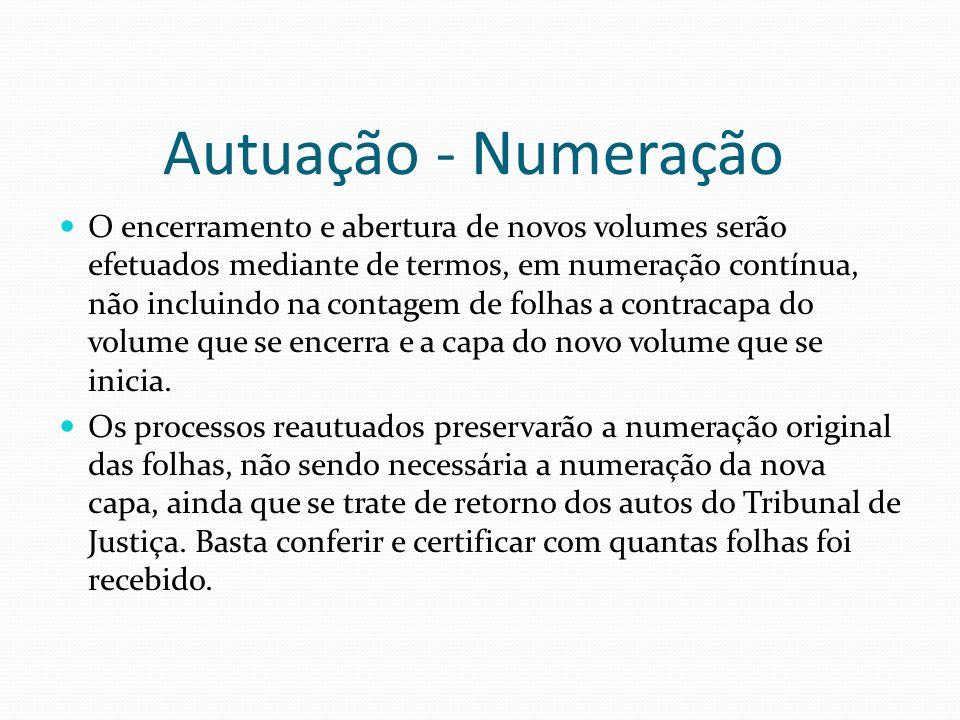 Autuação - Numeração