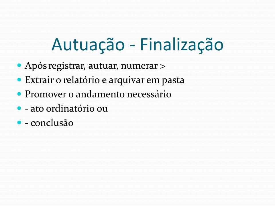 Autuação - Finalização
