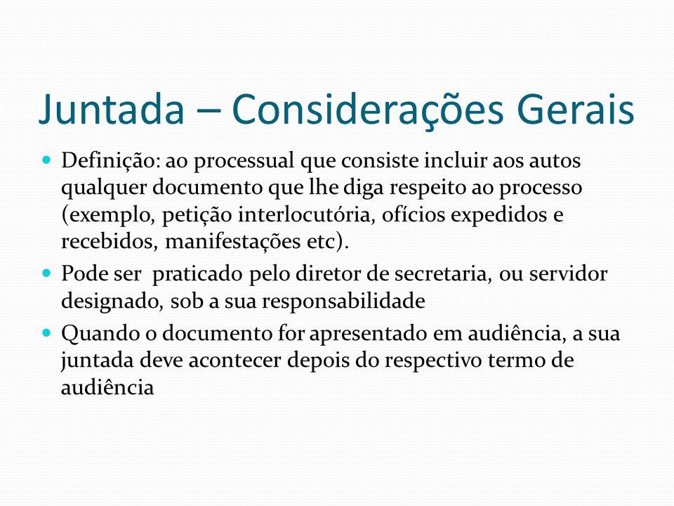 Juntada – Considerações Gerais