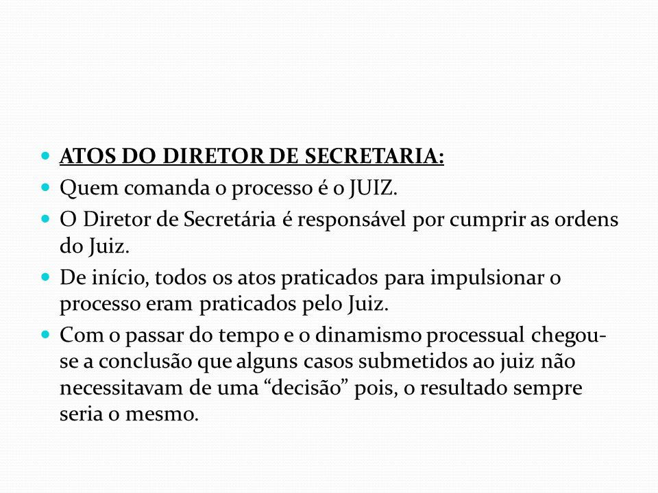 ATOS DO DIRETOR DE SECRETARIA: