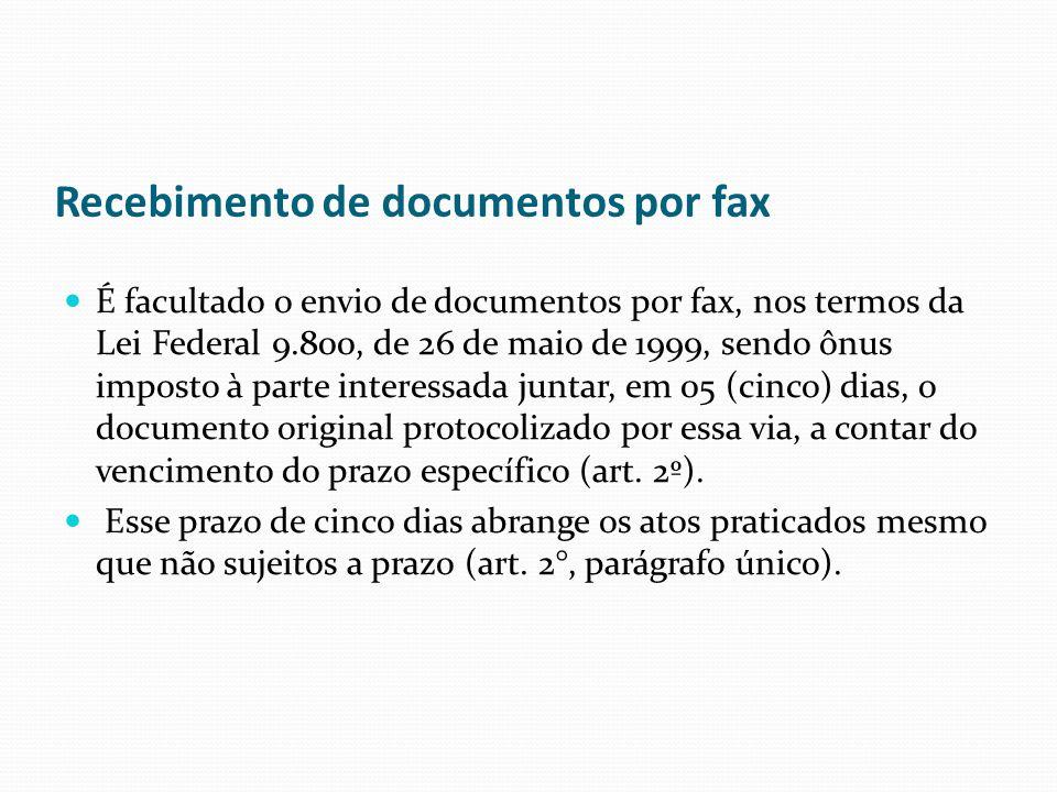 Recebimento de documentos por fax