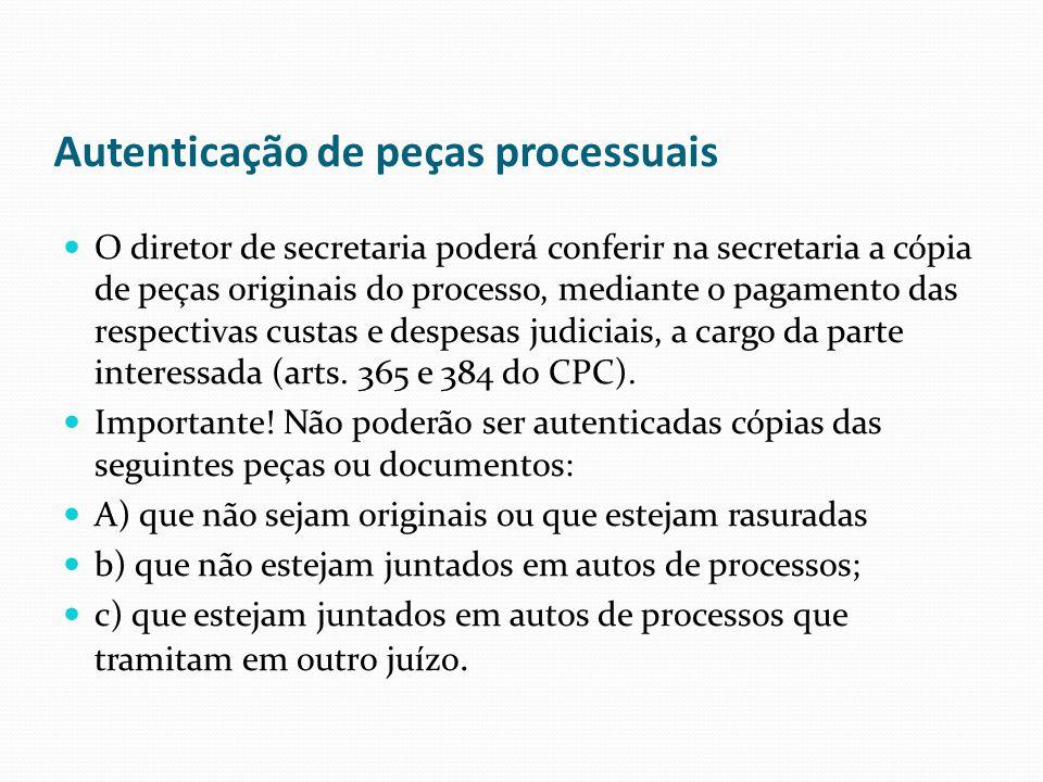 Autenticação de peças processuais