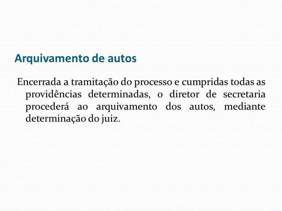Arquivamento de autos