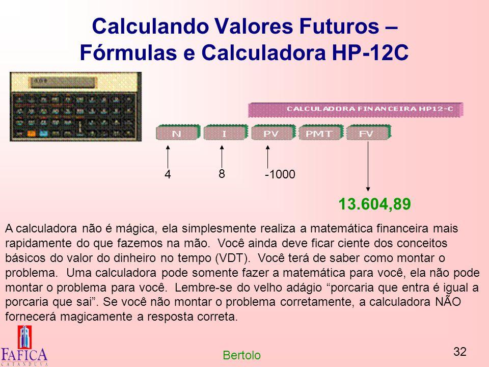 Calculando Valores Futuros – Fórmulas e Calculadora HP-12C