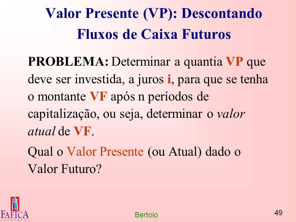 Valor Presente (VP): Descontando Fluxos de Caixa Futuros