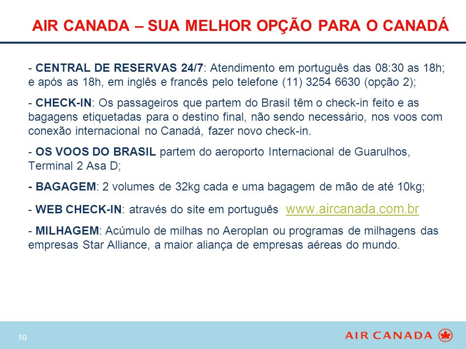 AIR CANADA – SUA MELHOR OPÇÃO PARA O CANADÁ