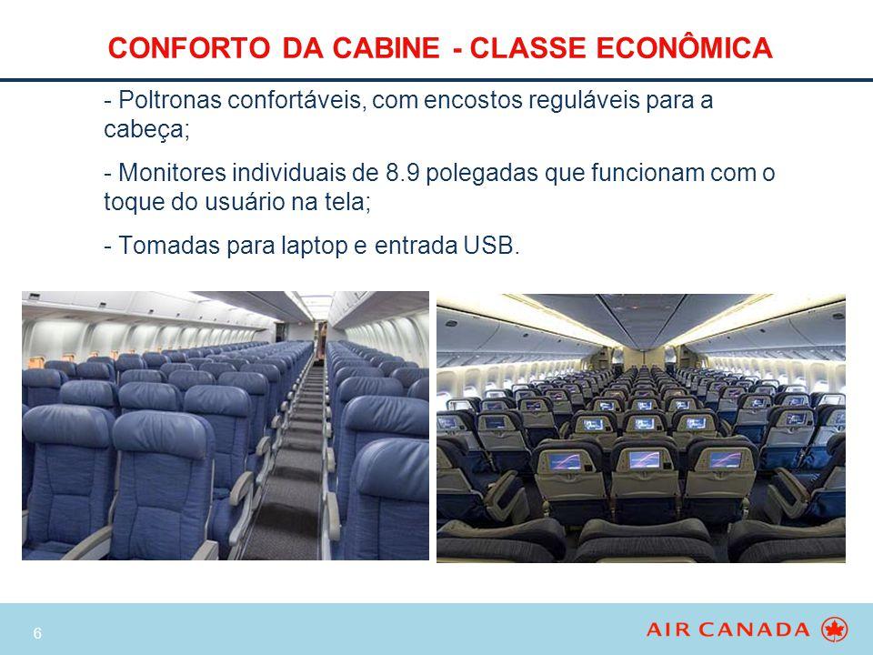 CONFORTO DA CABINE - CLASSE ECONÔMICA
