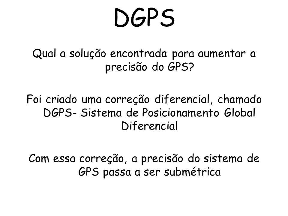 DGPS Qual a solução encontrada para aumentar a precisão do GPS