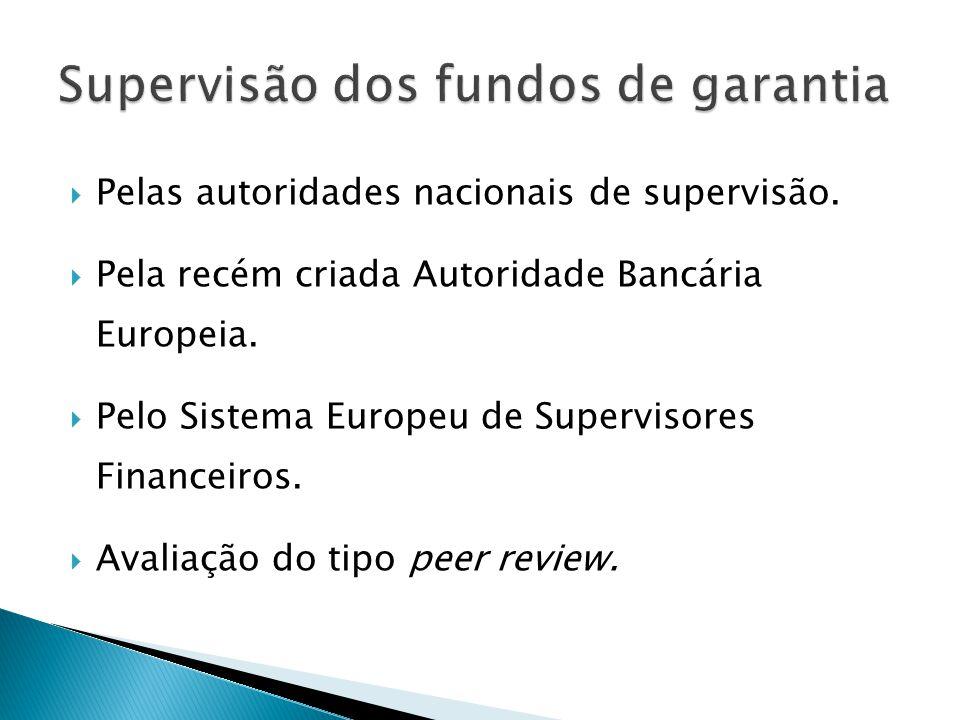 Supervisão dos fundos de garantia