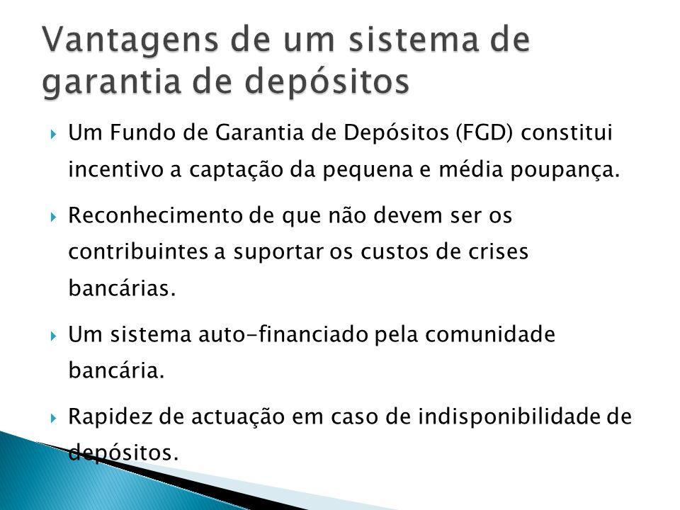Vantagens de um sistema de garantia de depósitos