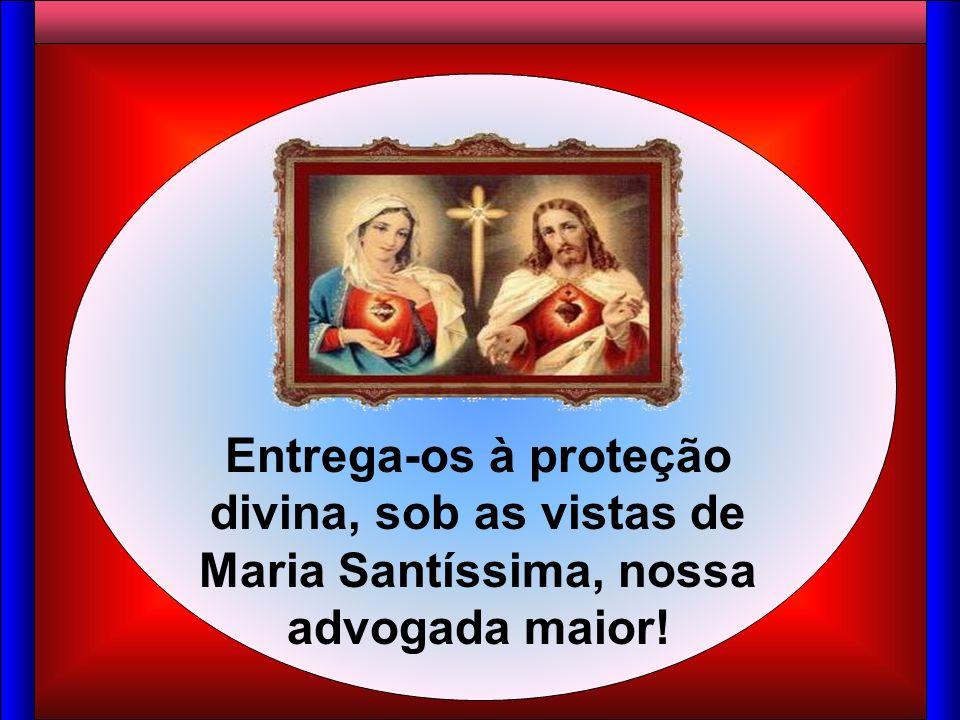 Entrega-os à proteção divina, sob as vistas de Maria Santíssima, nossa advogada maior!