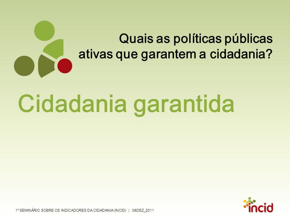 Quais as políticas públicas ativas que garantem a cidadania