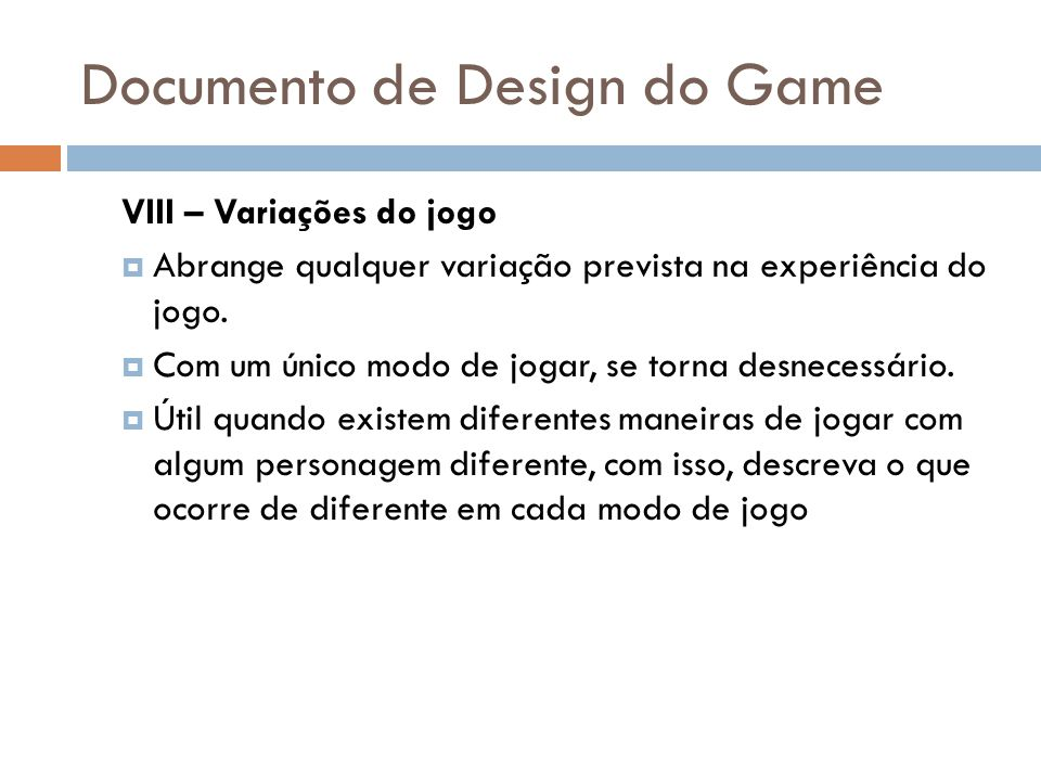 Documento de Design do Game