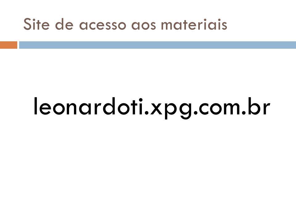 Site de acesso aos materiais