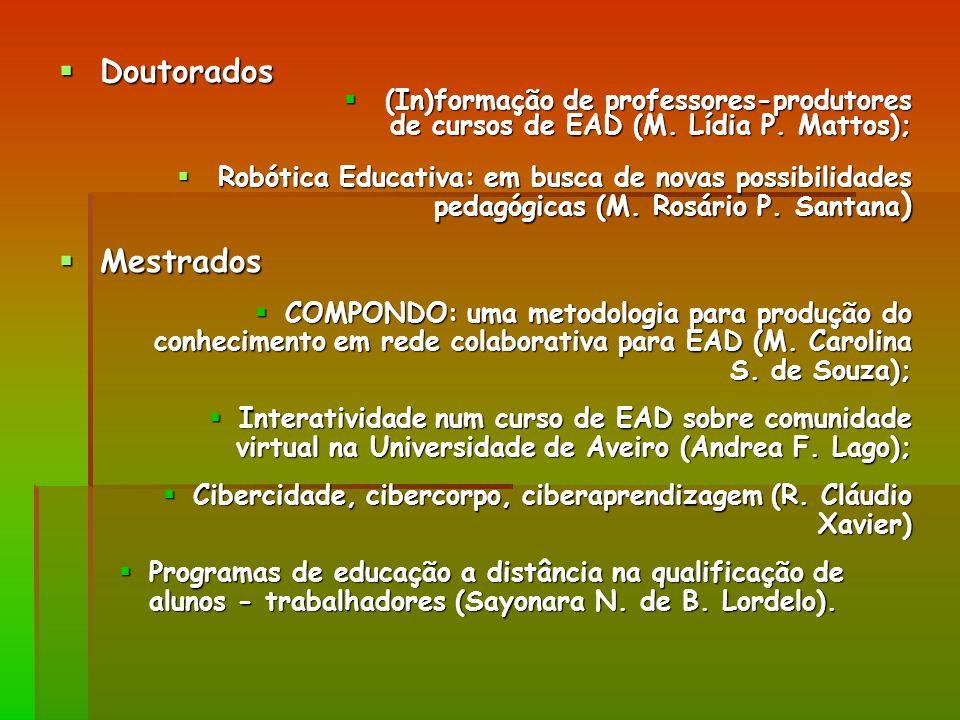 Doutorados Mestrados (In)formação de professores-produtores