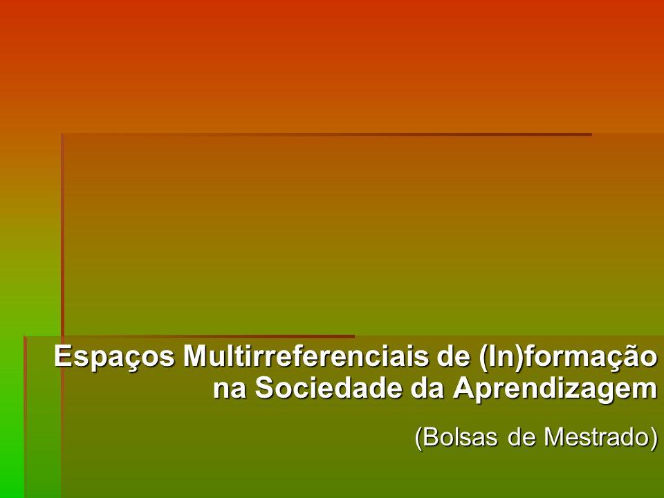 Espaços Multirreferenciais de (In)formação na Sociedade da Aprendizagem
