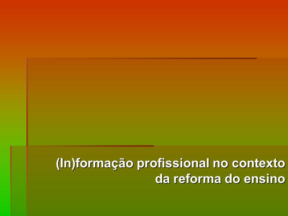(In)formação profissional no contexto da reforma do ensino