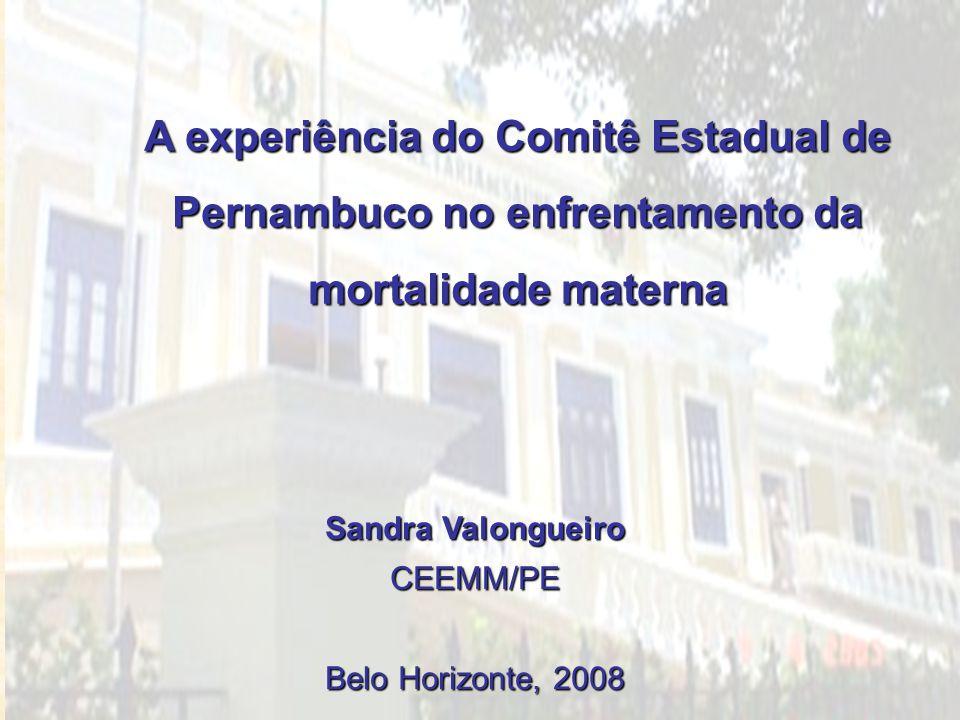 A experiência do Comitê Estadual de Pernambuco no enfrentamento da mortalidade materna