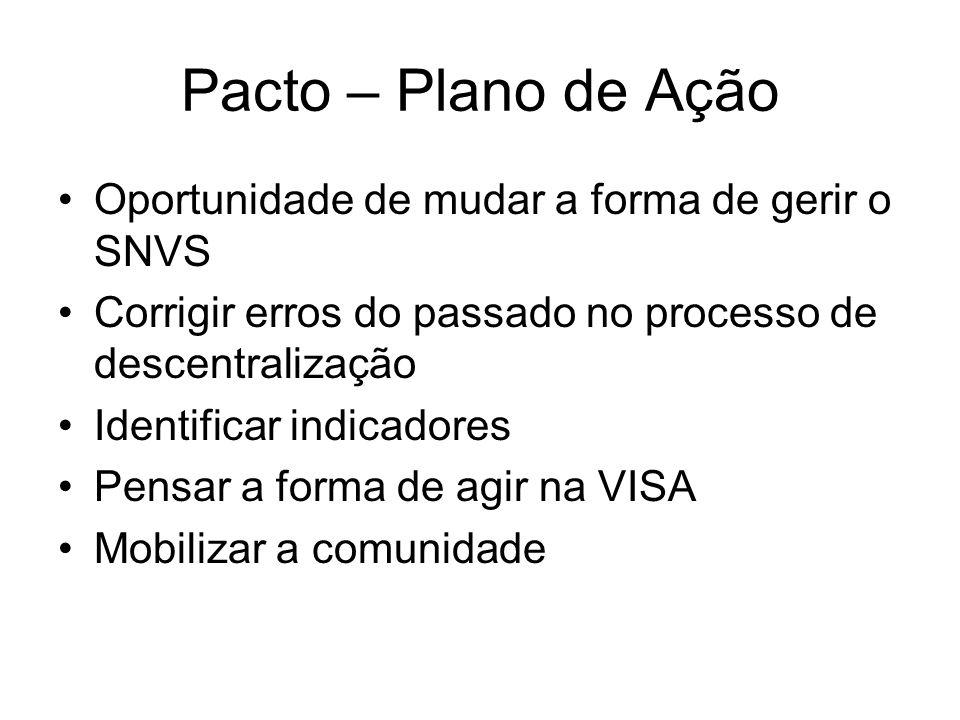 Pacto – Plano de Ação Oportunidade de mudar a forma de gerir o SNVS
