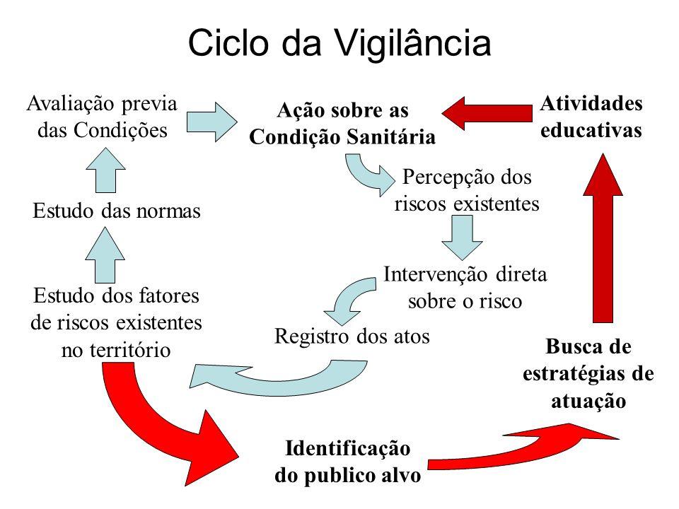 Ciclo da Vigilância Avaliação previa das Condições