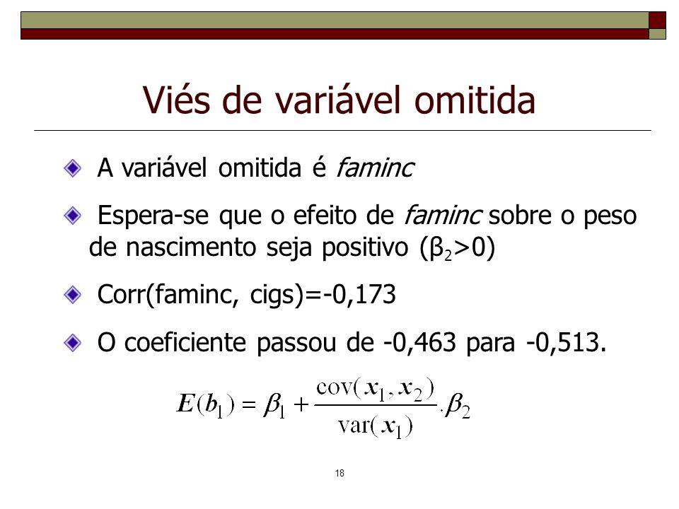 Viés de variável omitida