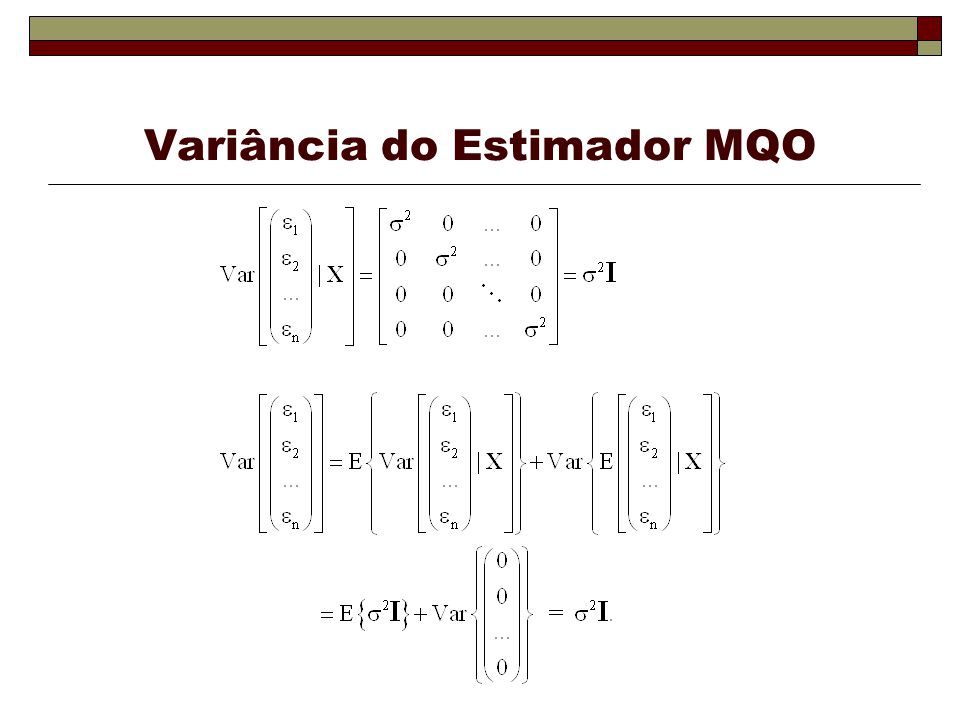 Variância do Estimador MQO