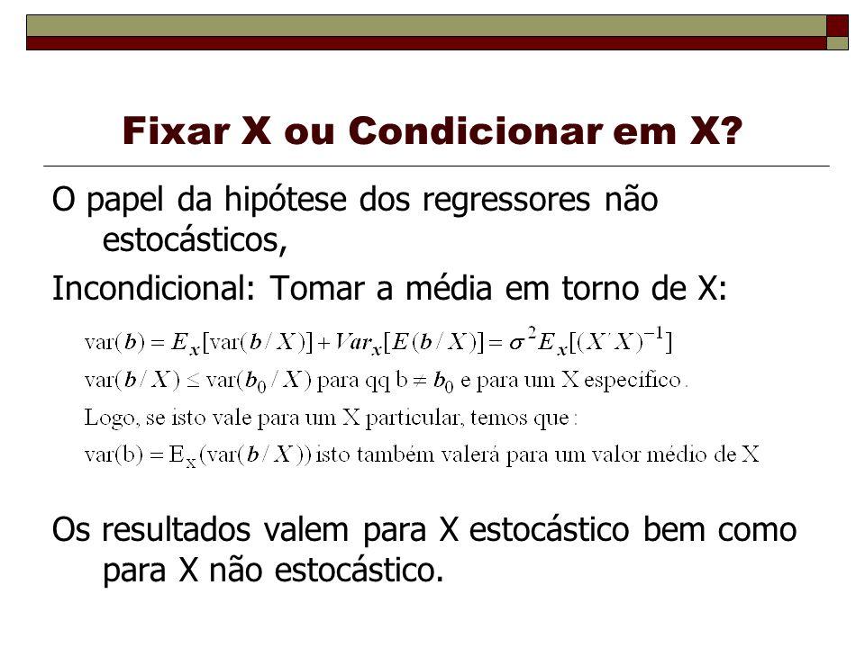Fixar X ou Condicionar em X
