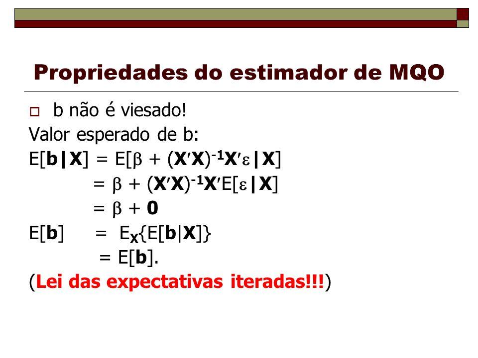 Propriedades do estimador de MQO