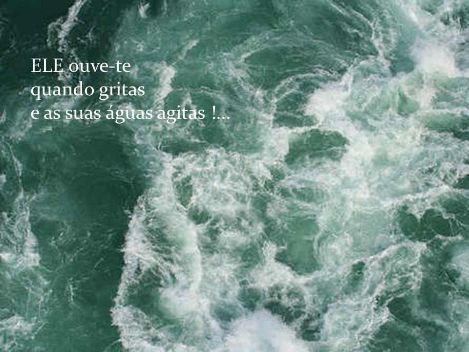 ELE ouve-te quando gritas e as suas águas agitas !...