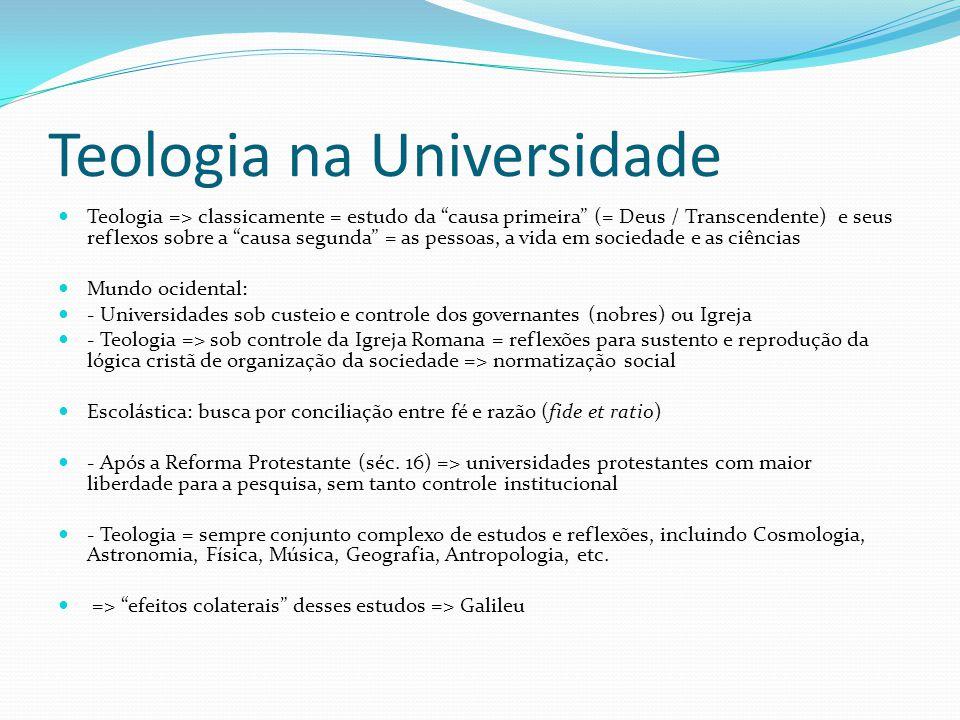 Teologia na Universidade