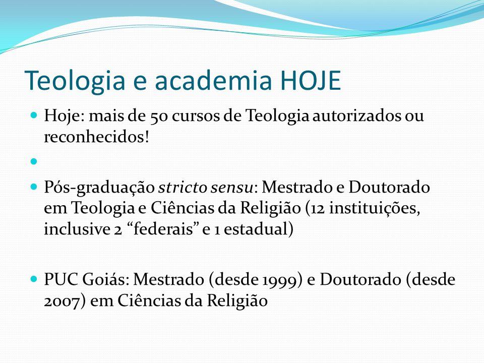 Teologia e academia HOJE