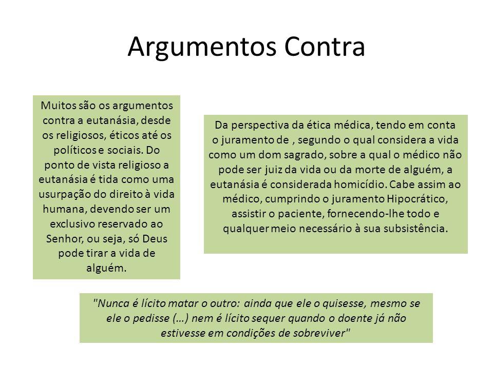 Argumentos Contra