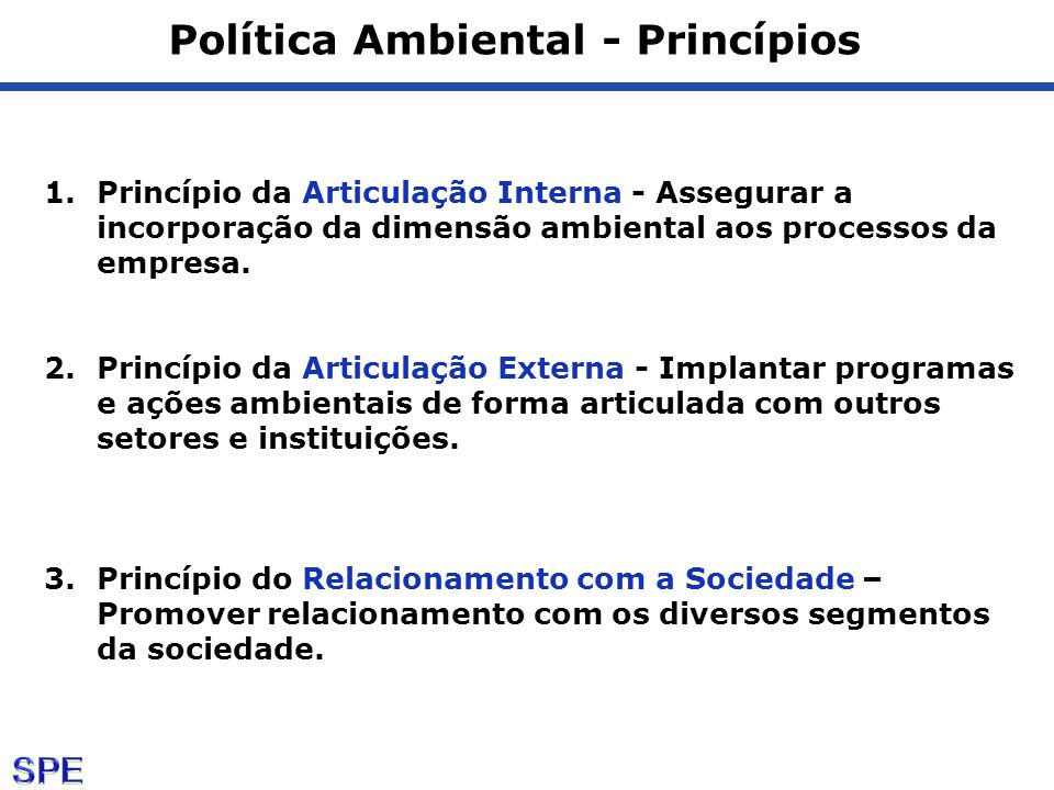 Política Ambiental - Princípios