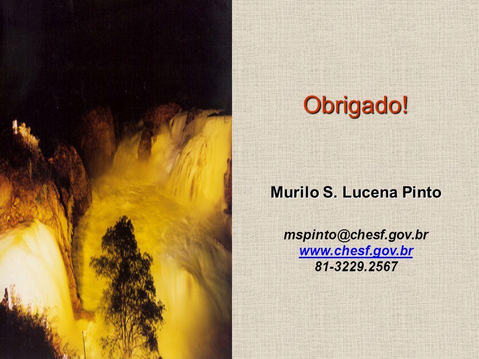 Obrigado! Murilo S. Lucena Pinto mspinto@chesf.gov.br www.chesf.gov.br