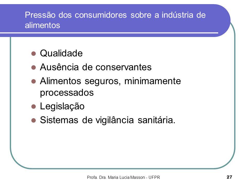 Pressão dos consumidores sobre a indústria de alimentos